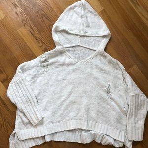 Women's Oversized Sweater - white